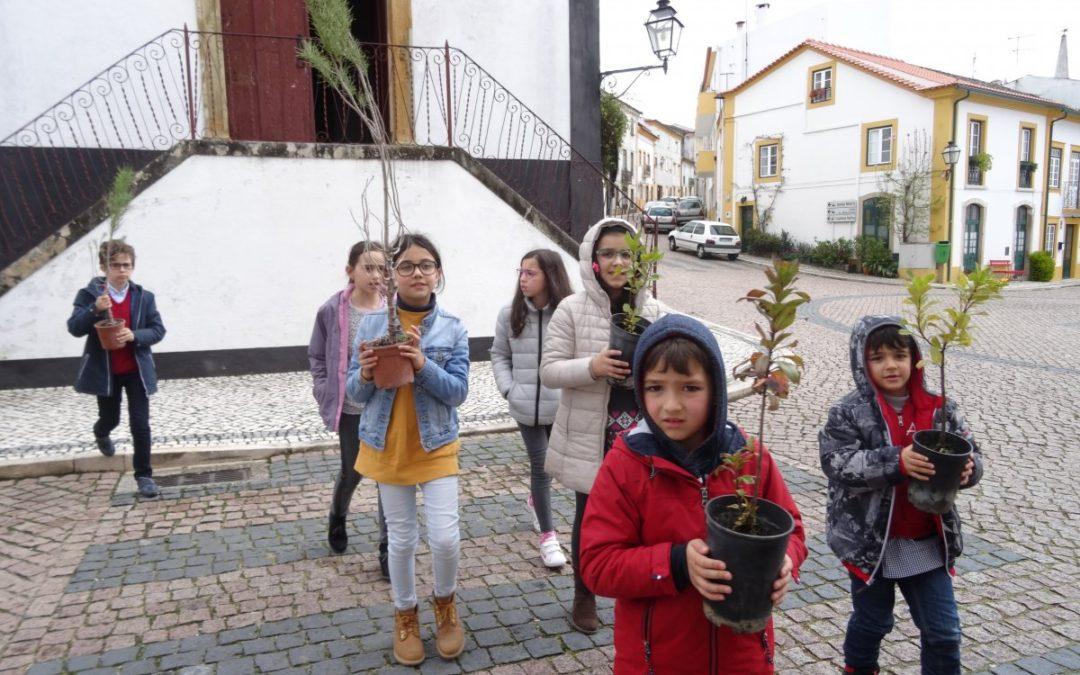 Entroncamento | alunos distribuíram árvores nas áreas ardidas da região